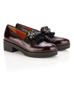 Loafers with floral embellishment