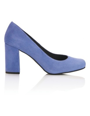 Soft suede round toe court shoes