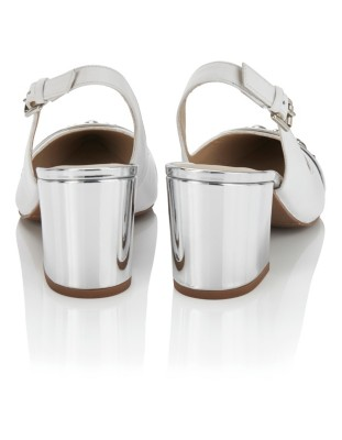 Spanish leather slingback heels