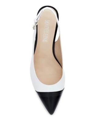Block heel slingbacks