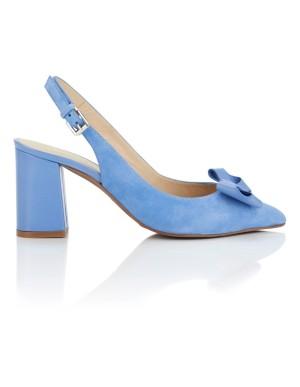 Slingback suede heels