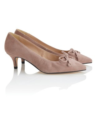 Stiletto heel court shoes with bow