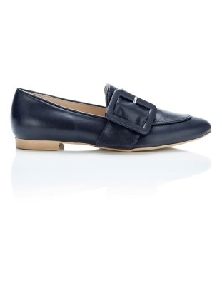 Large buckle loafers