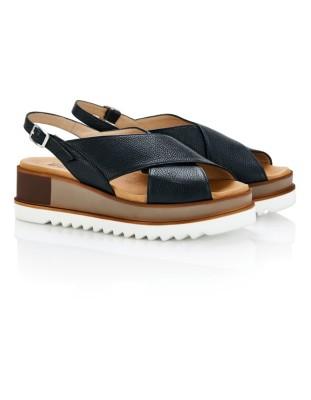Italian leather platform heels