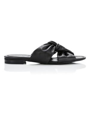 Knot-front slider sandals