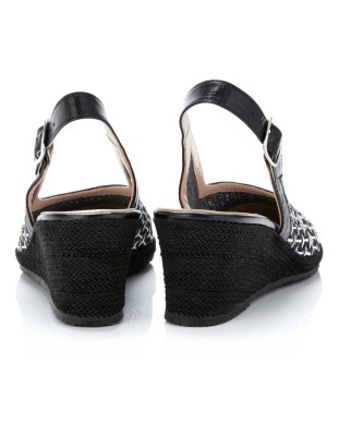 Slingback wedges