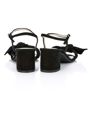 Block heels with bow front