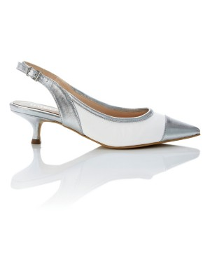 Slingbacks with metallic details