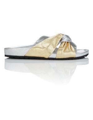 Knot front slider sandals