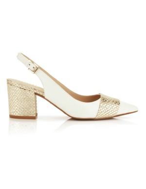Leather slingback heels