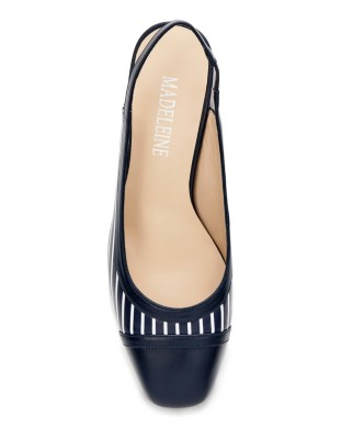 Contrast design slingback heels