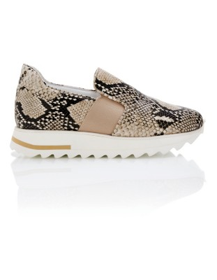 Snakeskin print loafers