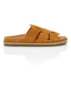 Supple suede slider sandals