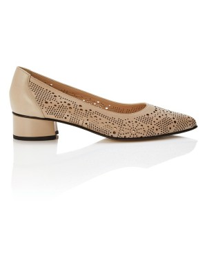 Perforated court shoes