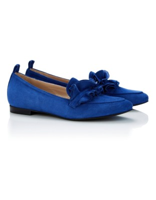 Loafers with ruffle vamp