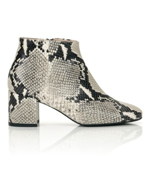 Snakeskin print ankle boots