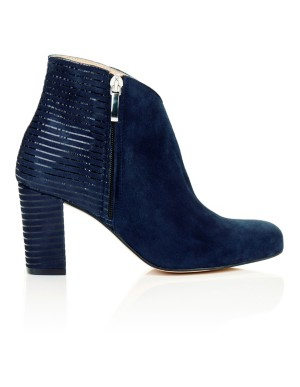 Striped suede ankle boots