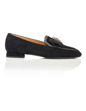 Bow front loafers