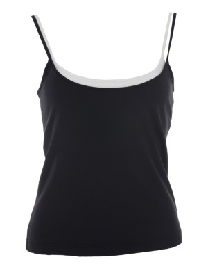 Twin-pack top with adjustable spaghetti straps