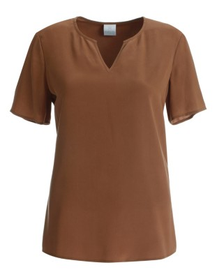Blouson top, pure silk