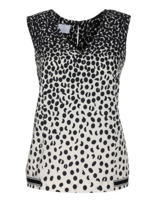 Sleeveless top with graphic pattern