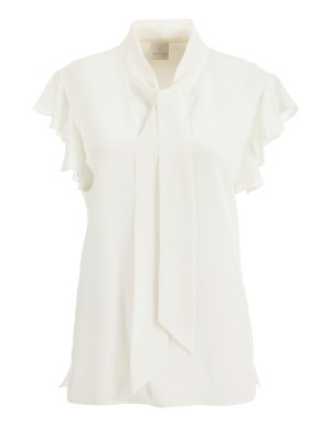 Silk ruffled blouse