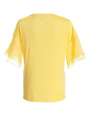 Top, pure silk