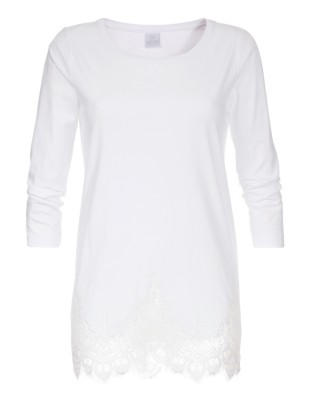 Lace-edged top