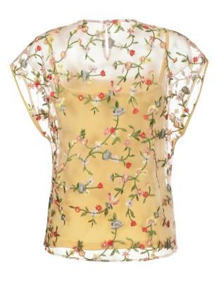 Blouson top & vest, two-piece
