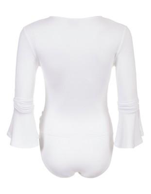 Wrap-front bodysuit