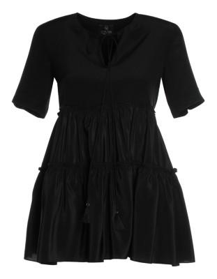 Swanky A-line silk blouse