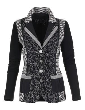 Tailored knitwear blazer