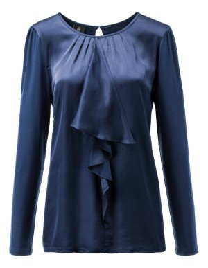 Blouse with flounce detailing
