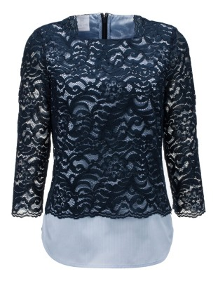 Lace top with boat neckline