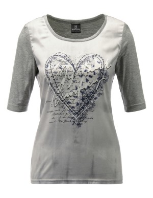 Top with rhinestone heart