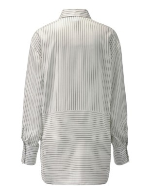 Oversized mixed stripe shirt