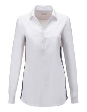 Shirt with glittering side stripes