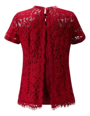 Lined floral lace blouse