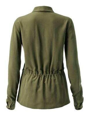 Silk drawstring shirt