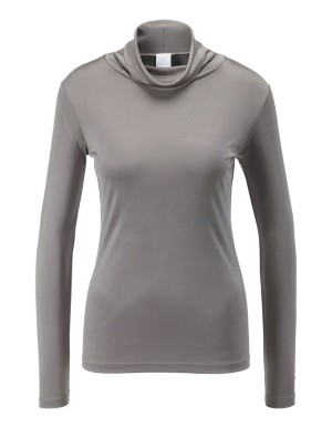 Silk roll-neck top