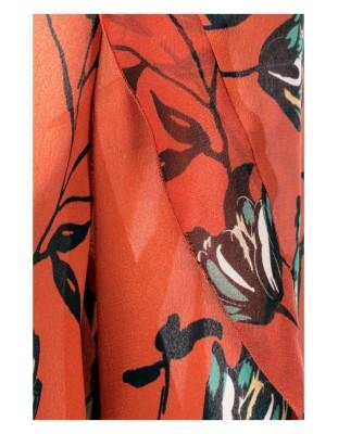 Chiffon flounce blouse