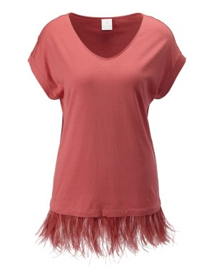 Feather hem top