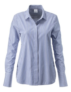 Cotton shirt with side seam button detailing