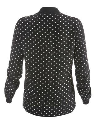 Polka dot silk blouse
