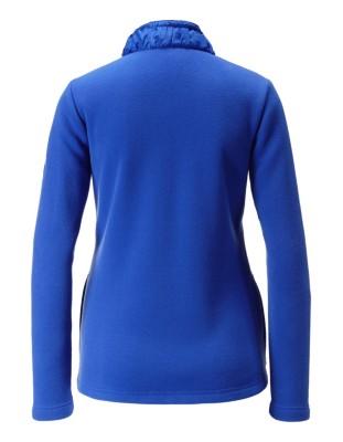 Fleece jacket with taffeta details