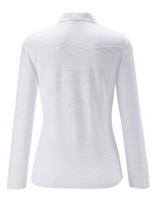 Elasticised shirt with eyelet stitching