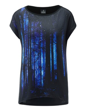 Sparkle and print top