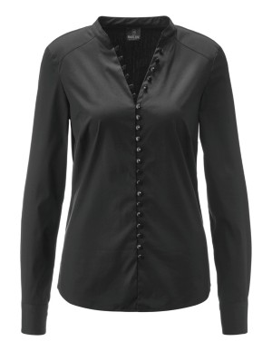 Loop button front blouse