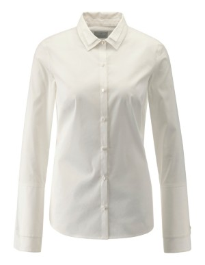 Semi-fitted double-layer look blouse