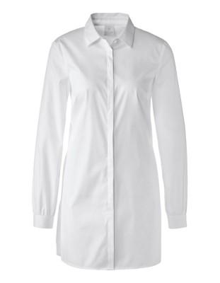 Long, casual shirt with rear peplum